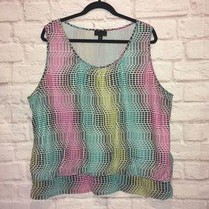 Worthington 3X sleeveless blouse top